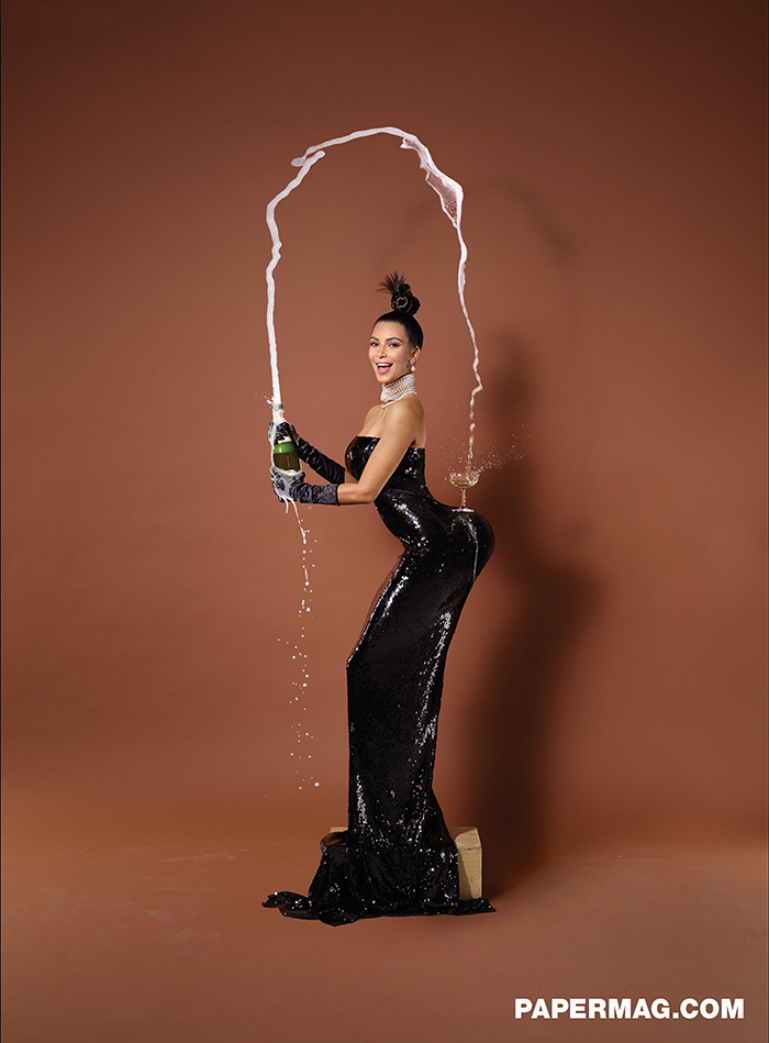 "Kim Kardashian by Jean-Paul Goude.  ""Paper"" (Winter, 2014)"